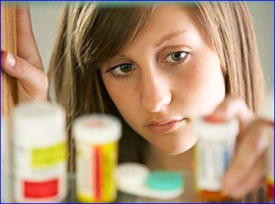 girl with prescription drugs